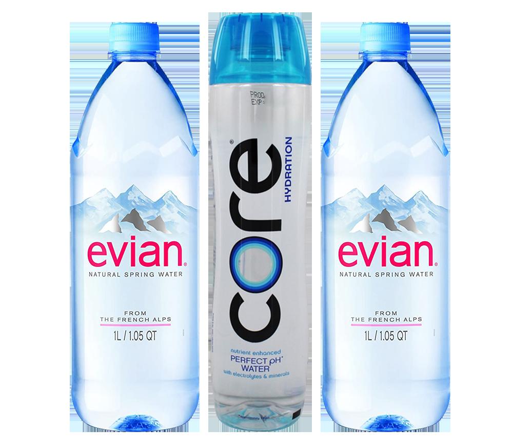 Core 304oz /Evian 1Ltrs